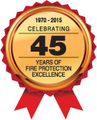 Celebrating 45 years of fire protection excellence